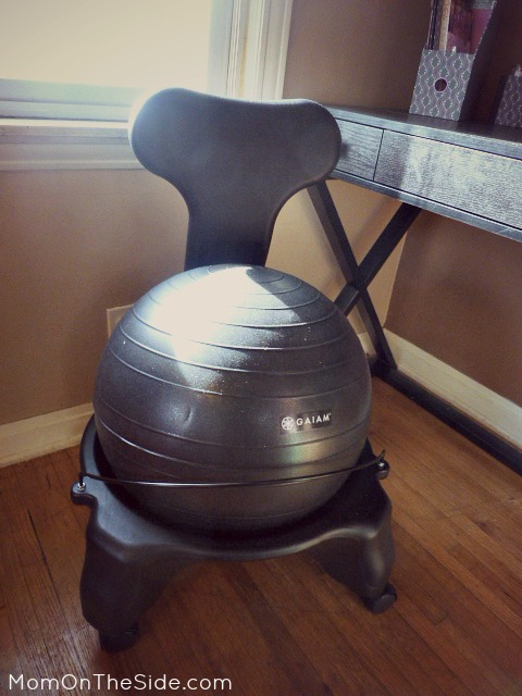 3 reasons to use a balance ball chair - Gaiam Ball Chair