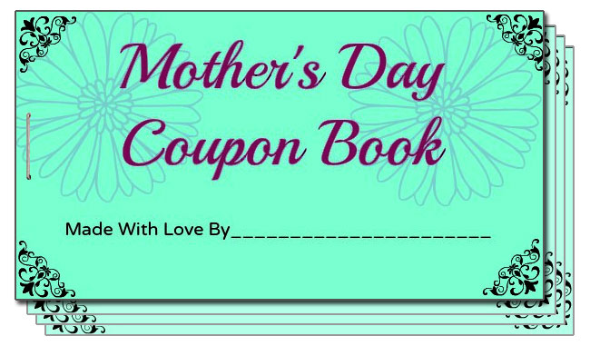 DIY Mother's Day Coupon Book for Twin Moms