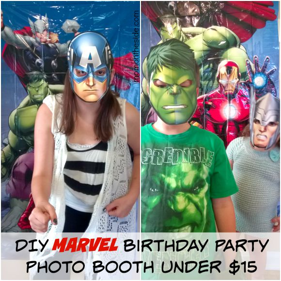 DIY MARVEL Birthday Party Photo Booth Under $15