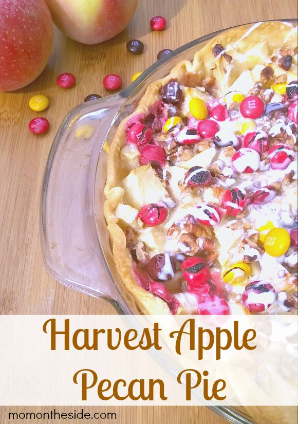 Harvest Apple Pecan Pie with Fall M&Ms and Apple Picking Tips to get the perfect apples.