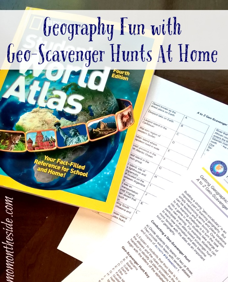 Geography Fun with Geo-Scavenger Hunts At Home {+ National Geographic Bee}