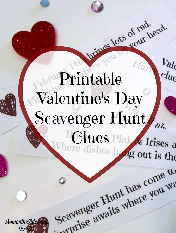 valentines day scavenger hunt