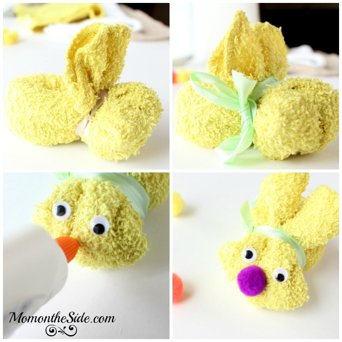 How to Make Washcloth Bunnies that hold Easter Eggs