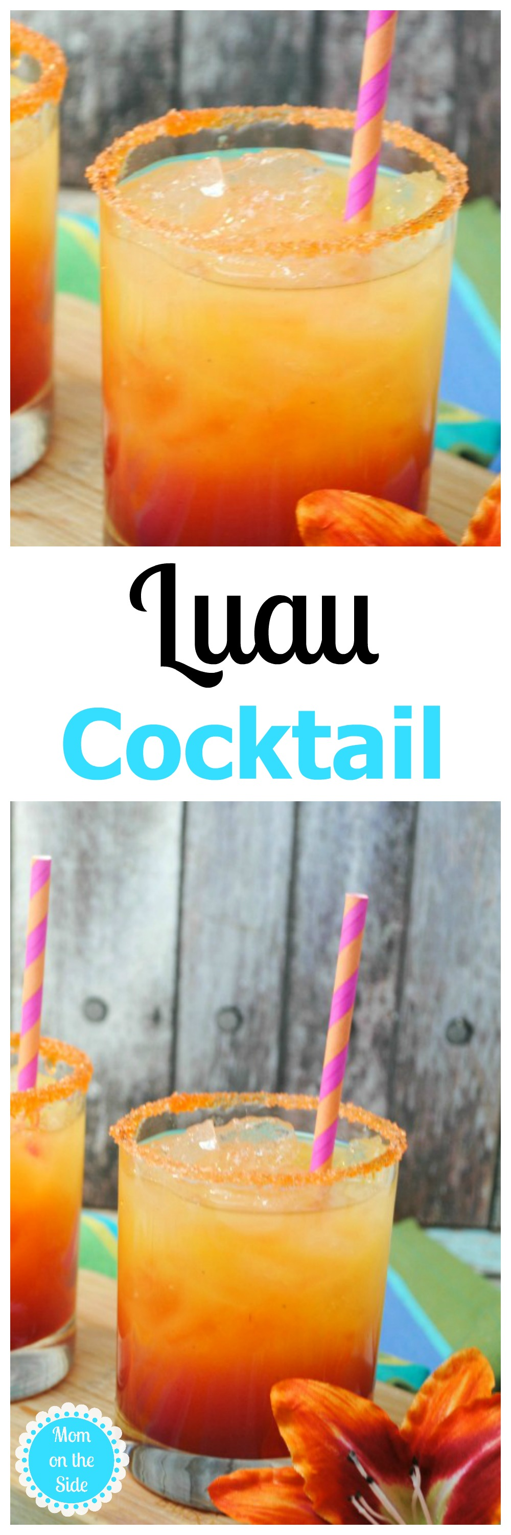 This Luau Cocktail is a great adult beverage for Summer parties, or anytime you want to be taken away to the sores of sandy beach!