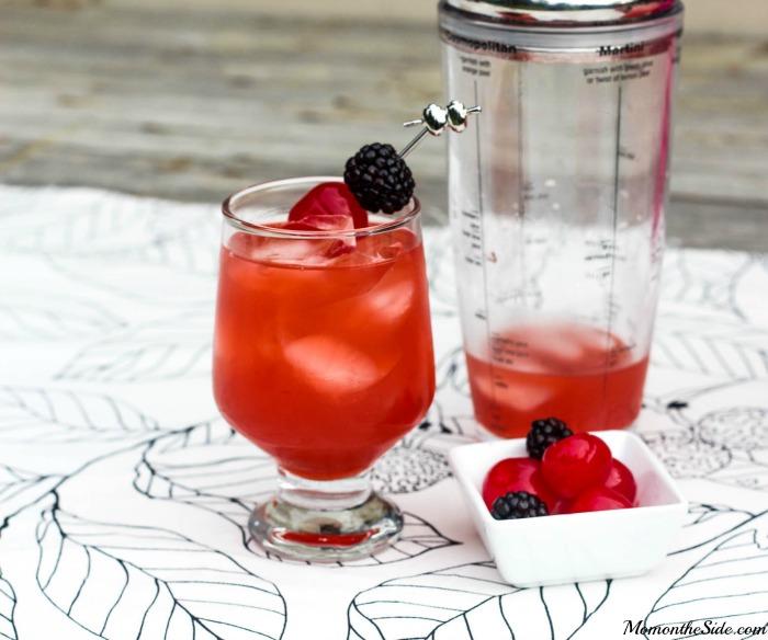 Cherry Rum Punch with Kraken Black Spiced Rum and Pink Lemonade