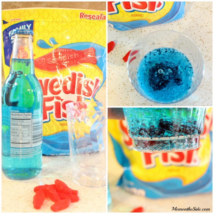 Swedish fish mocktail for family movie night for Swedish fish shot