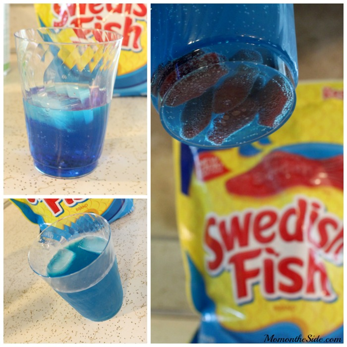 Swedish fish cocktail and mocktail for family novie night for Swedish fish shot
