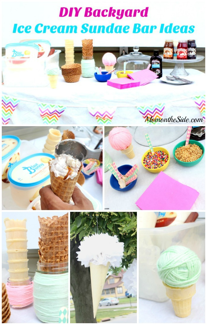 DIY Backyard Ice Cream Sundae Bar Ideas