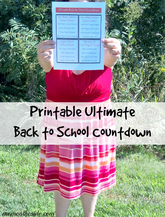 Ultimate Back to School Countdown {Printable}
