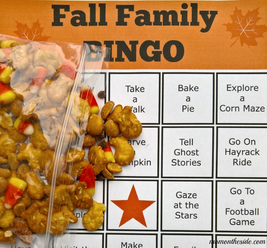 Snack Mix and Fall Bingo