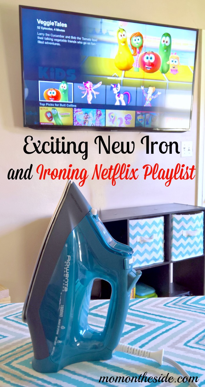Exciting New Rowenta SteamCare Iron and Ironing Netflix Playlist