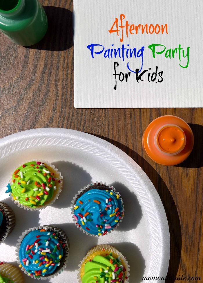 Afternoon Painting Party for Kids that is super easy to set up, very affordable, and tons of fun!