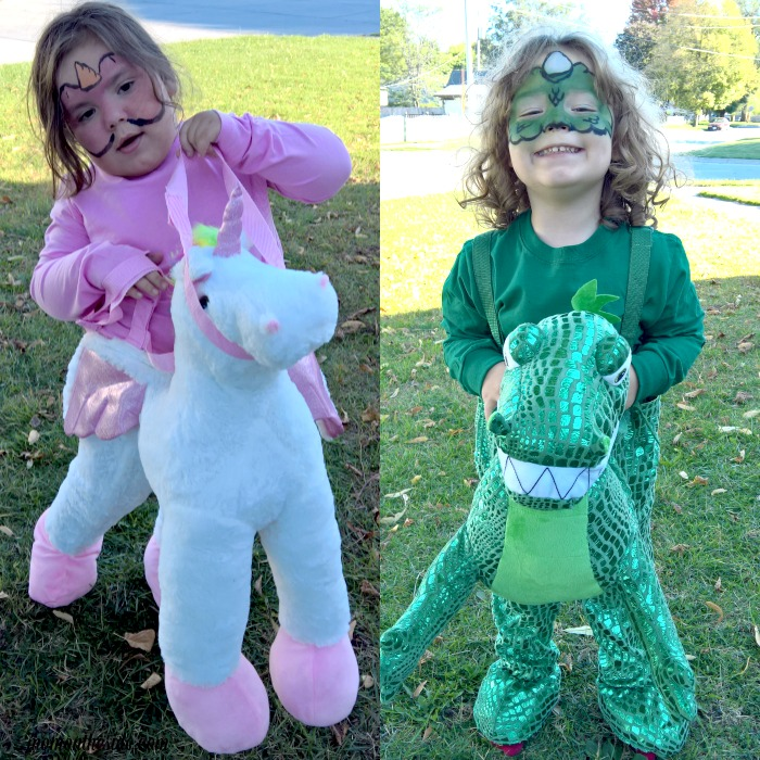 Express yourself creatively in Halloween Costumes with face painting! Check out these Dinosaur and Unicorn Face Painting Tutorials for Toddlers.