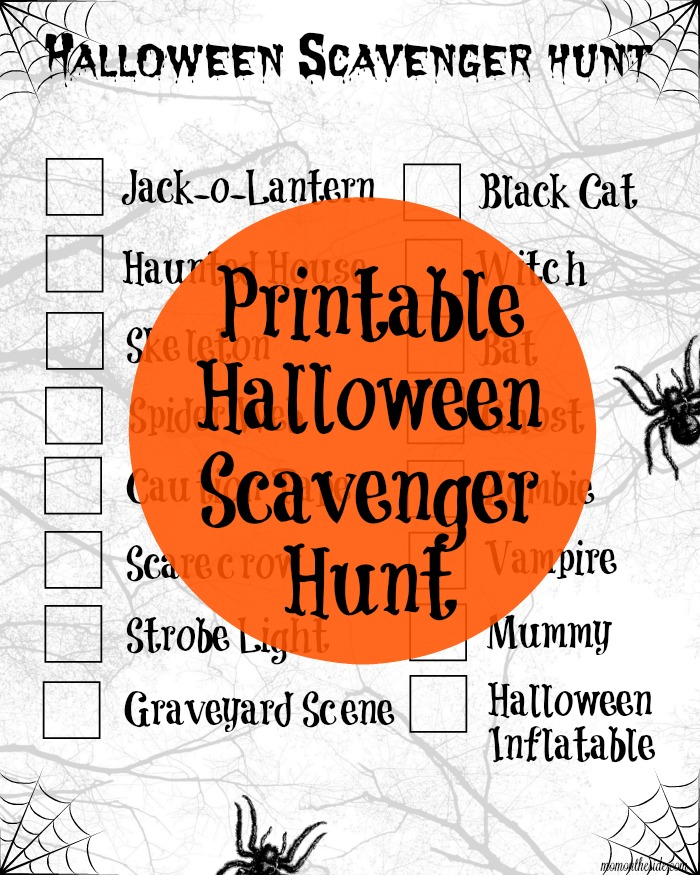 This printable Halloween Scavenger Hunt can be used when you're out trick-or-treating or on a family walk around the neighborhood while decorations are up.