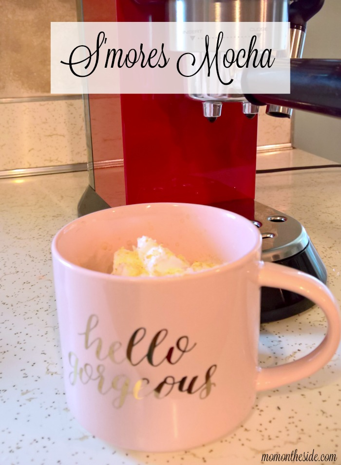 Make an amazingly delicious S'mores Mocha right at home! 5 ingredients and you can whip up this drink to warm your insides.