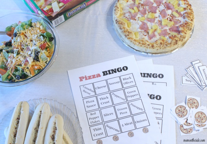 Family Pizza Night: Spicy Breadsticks, Family Style Salad, and Pizza BINGO