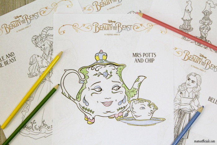 Elegant Beauty and the Beast Coloring Pages
