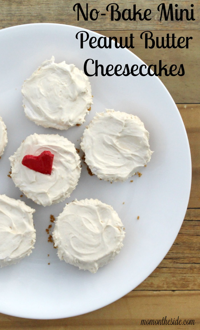 No-Bake Mini Peanut Butter Cheesecakes