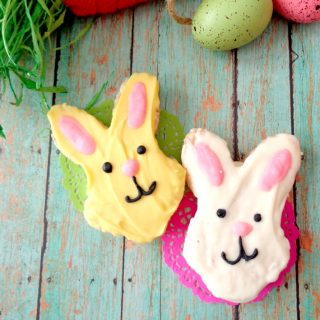 White Chocolate Easter Bunny Rice Krispies Treats