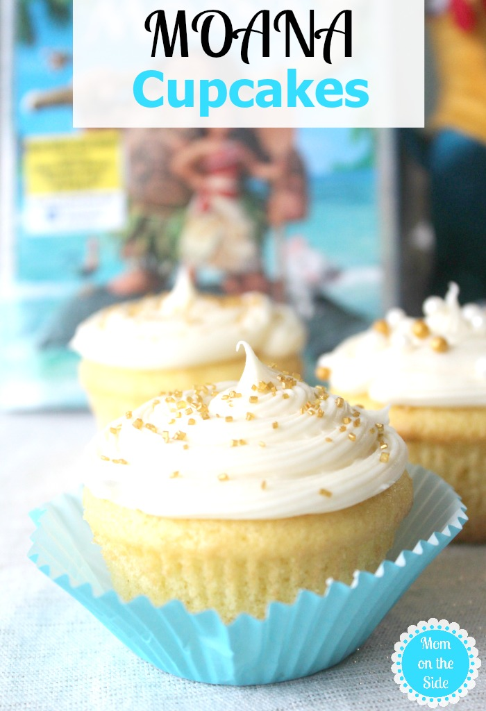 Moana on Blu-ray recently released and these beautifully delicious Moana Cupcakes are so easy to whip together for family movie night.