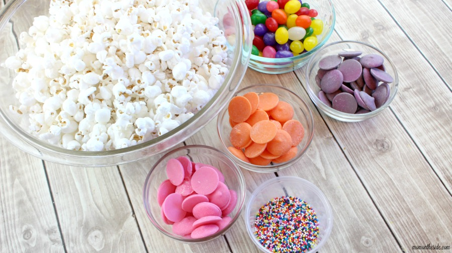 Easy, fun, and colorful Easter dessert! This Jelly Bean Popcorn is the perfect spring treat for kids and adults at your Easter Party.
