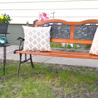Cozy Outdoor Sitting Area with Big Lots – Under $100 Challenge