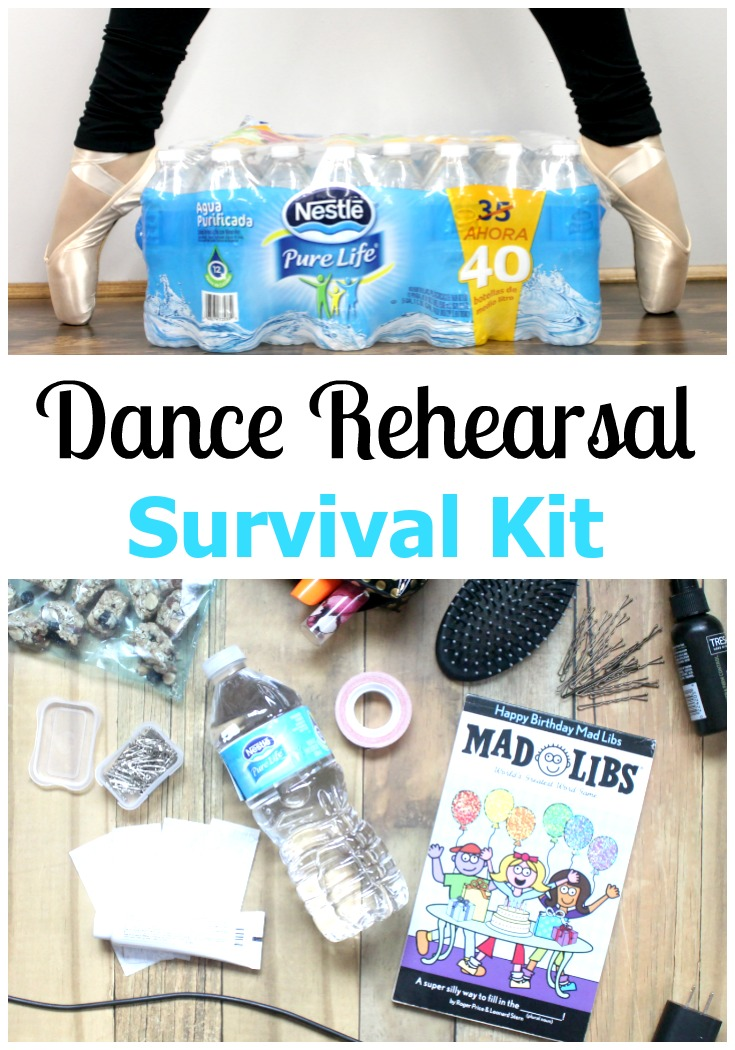 After 6 years of recitals, I've learned how to be prepared. This Dance Rehearsal Survival Kit is one part of that preparation. See what I'm packing in it!