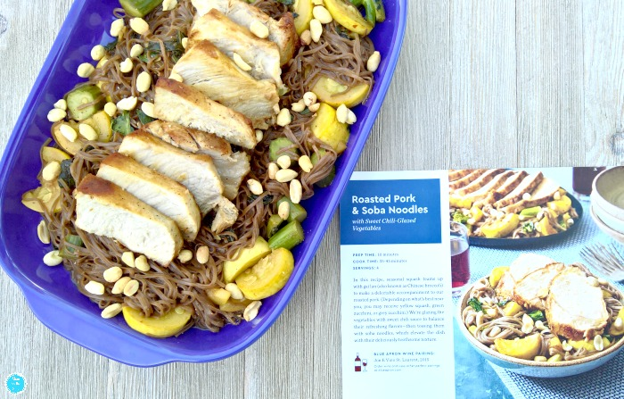 Blue Apron Cooking Meals with Family