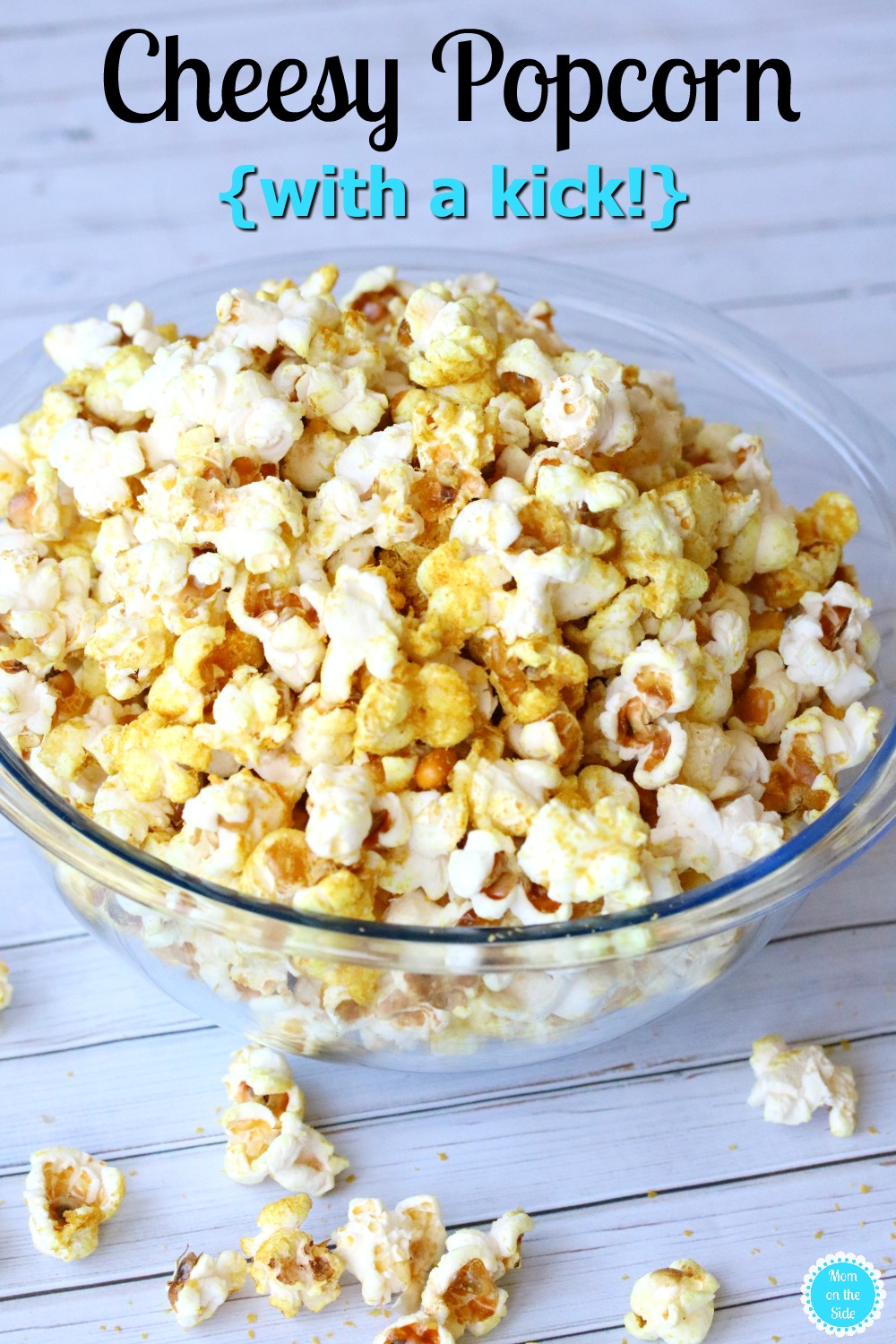 This Cheesy Popcorn with a Kick is going to be a favorite for family movie nights! Plus, it can be made with both homemade popcorn and microwave popcorn!