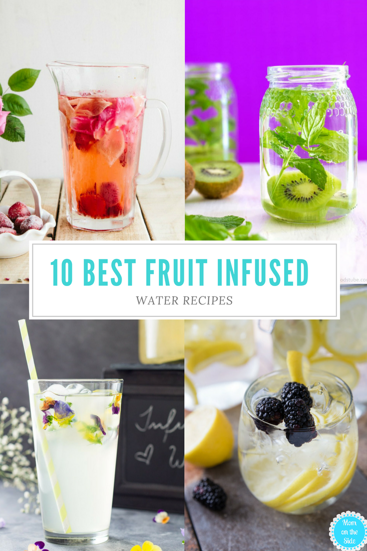 Fruit infused water recipes are a delicious way to increase your water intake without the boring taste! 10 of the Best Fruit Infused Water Recipes to try.