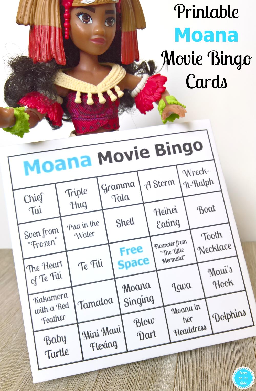 Printable Moana Movie Bingo Cards