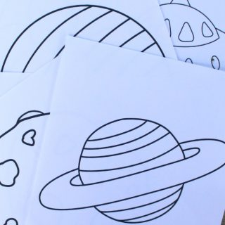 Printable Outer Space Coloring Book