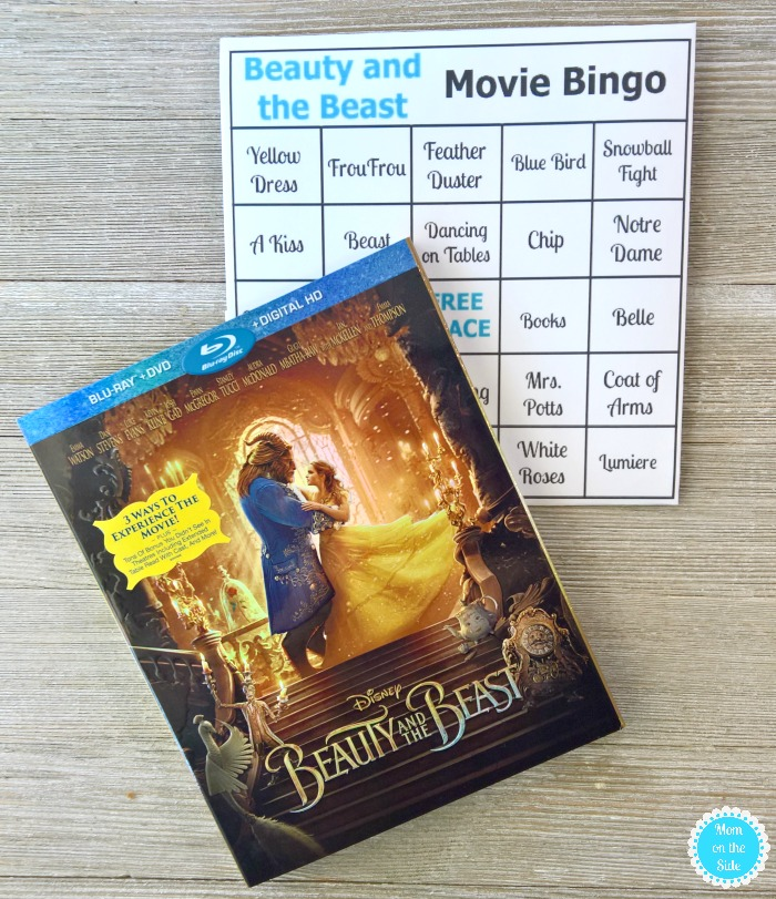 Printable Movie Bingo Cards for Beauty and the Beast