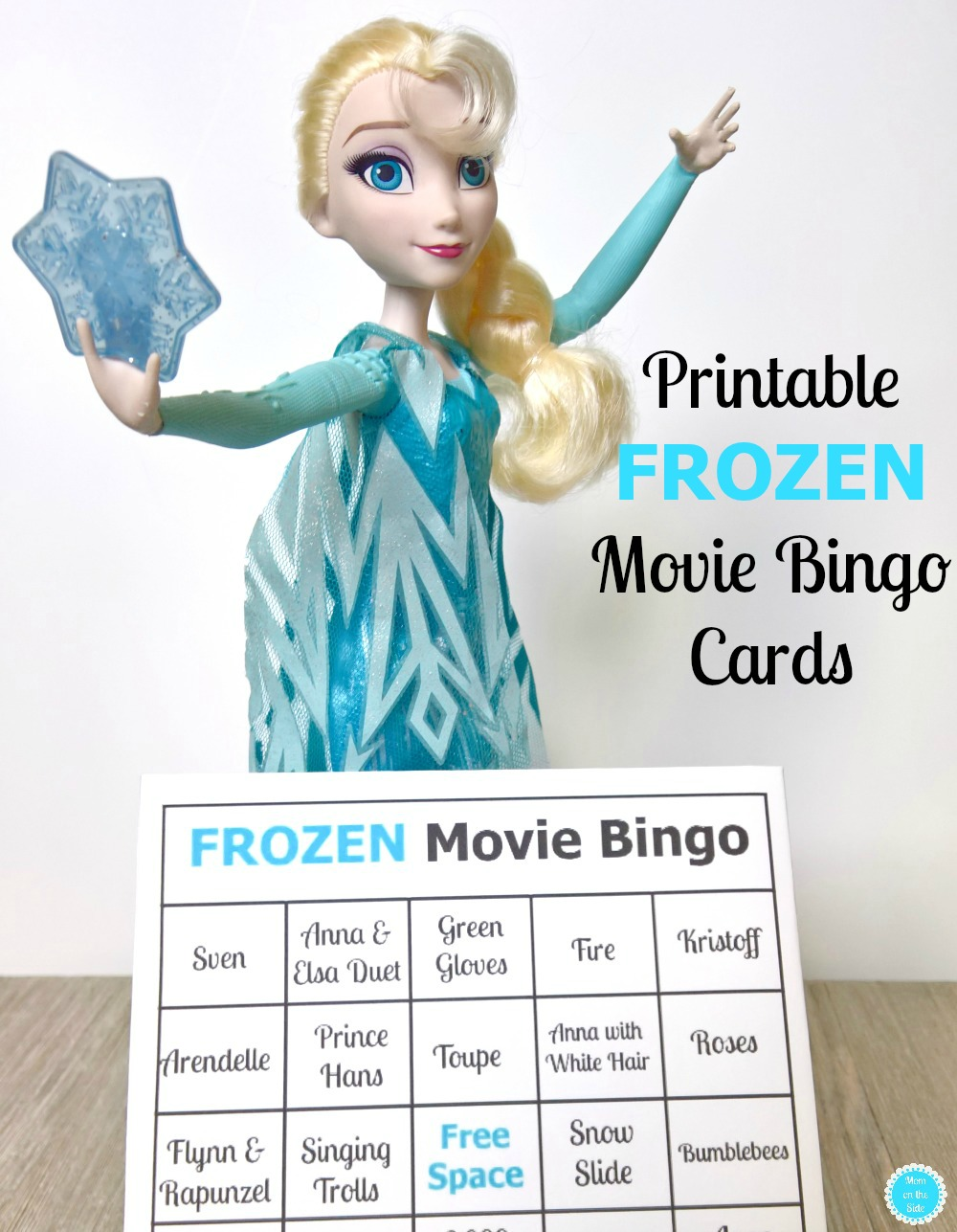 Grab these printable Disney's Frozen Movie Bingo cards and pick up the new Snow Powers Elsa Doll for a fun family movie night!