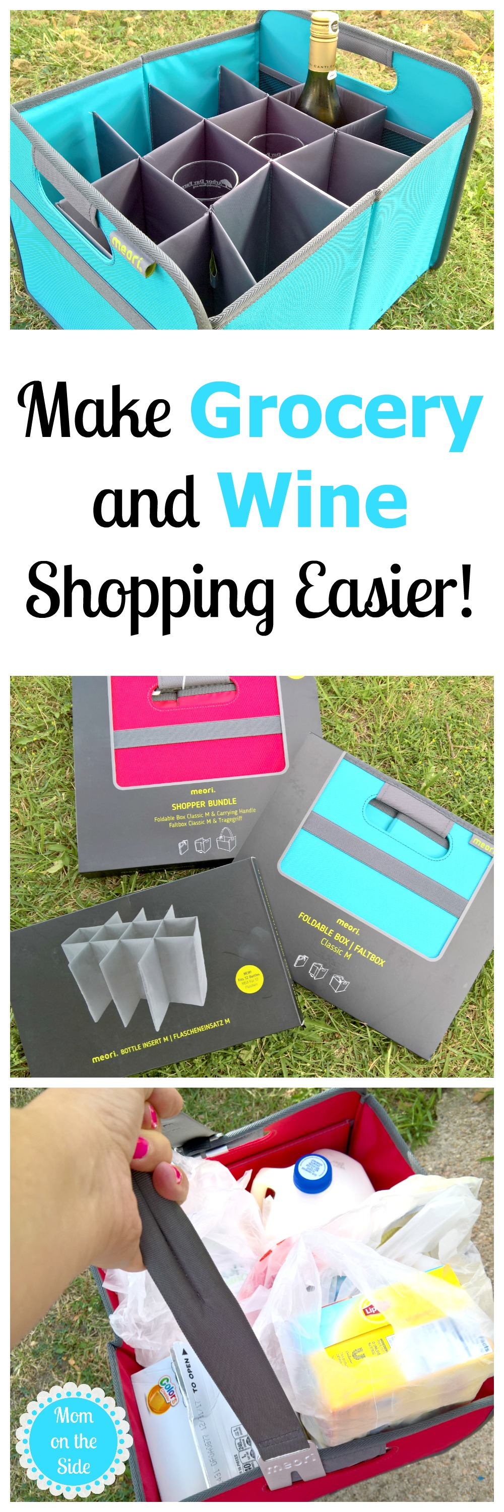 Make shopping easier with meorio shopper bundle and wine carrier