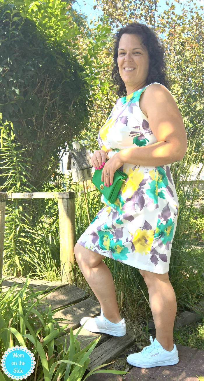 Sneaker Outfits for Busy Moms - Summer Dress