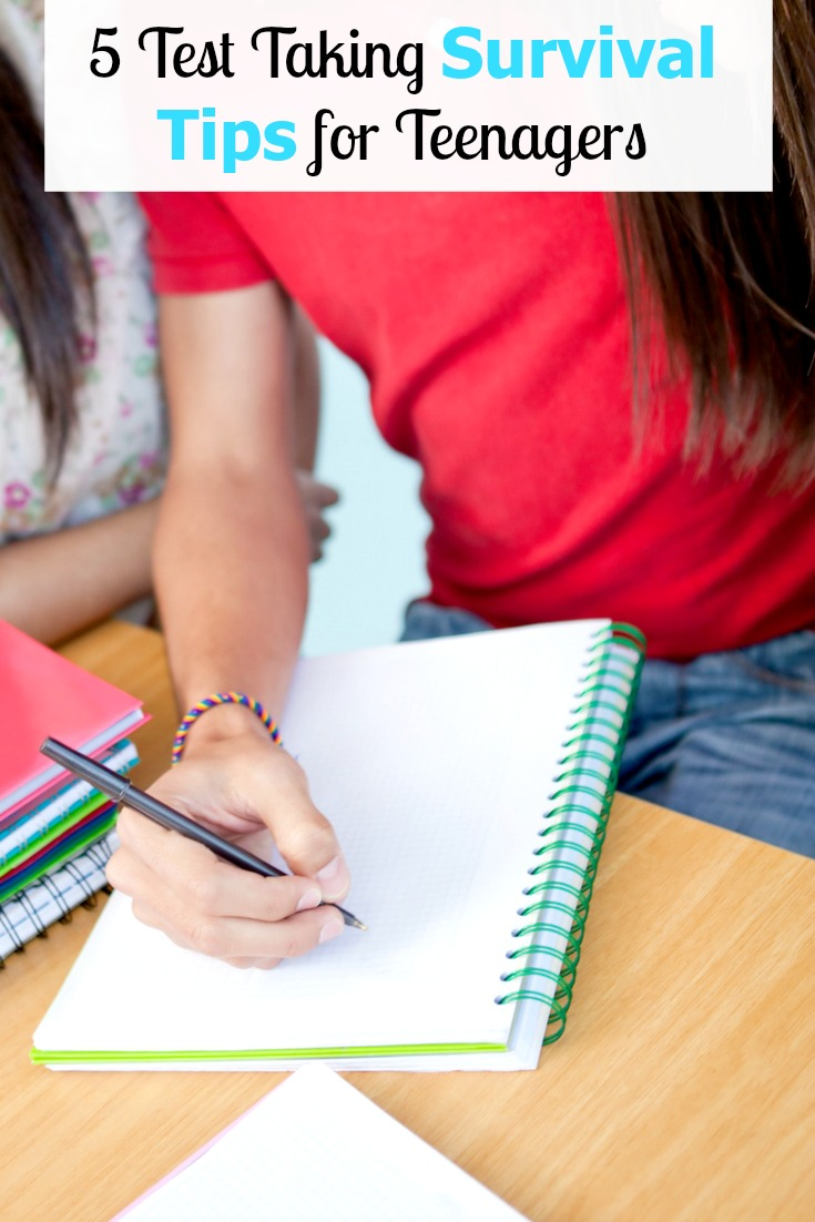 It's back to school time and these 5 test taking survival tips for teenagers are a must!