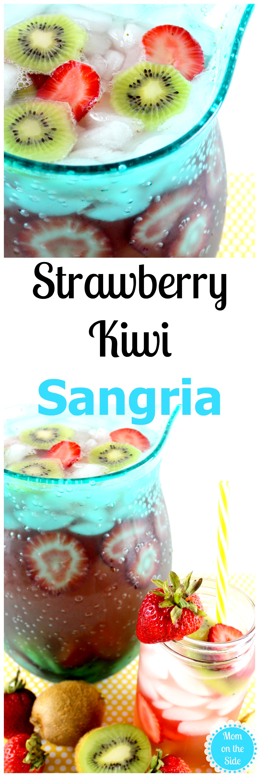 Strawberry Kiwi Sangria is an easy White Wine Sangria Recipe!