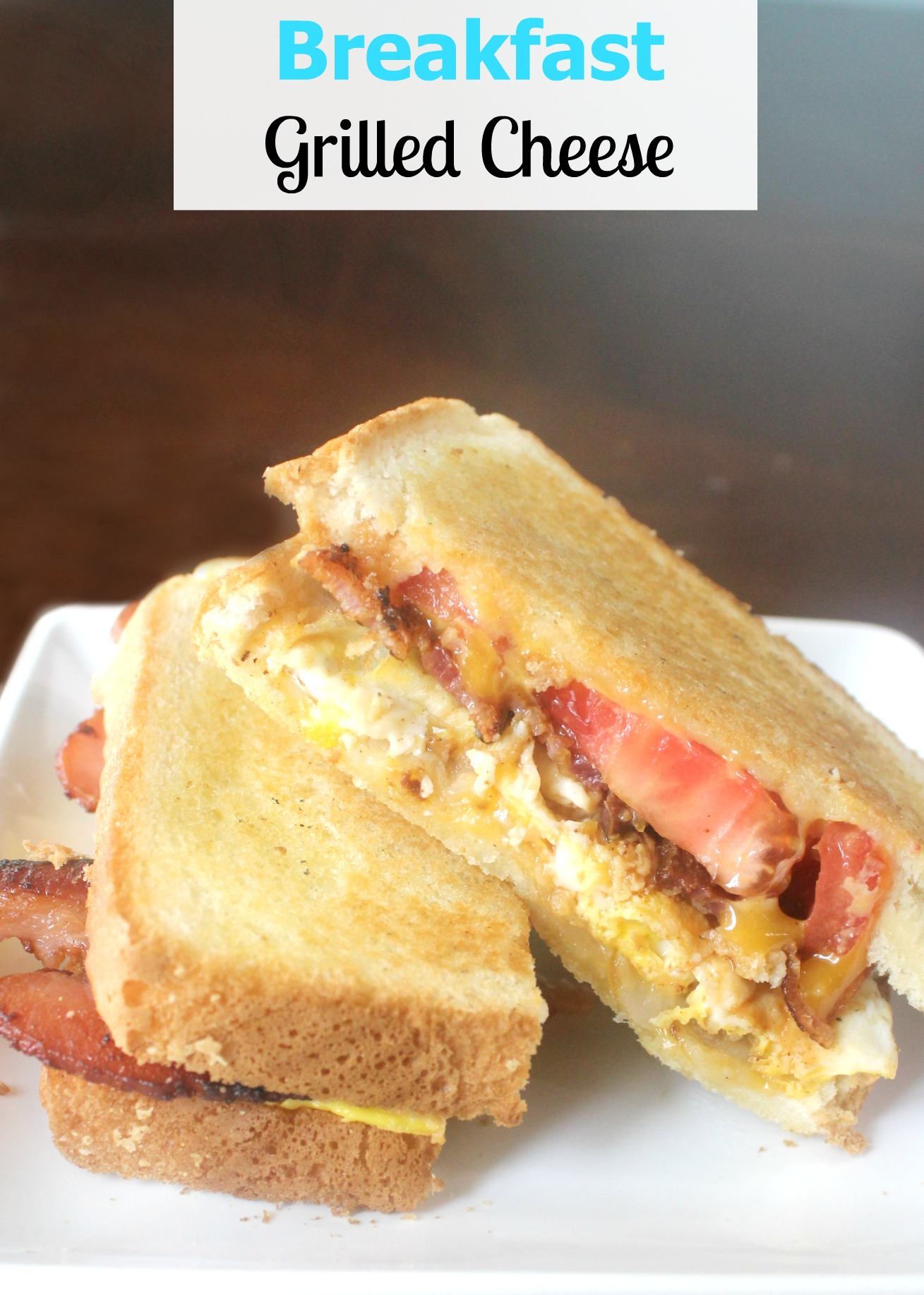 Delicious Breakfast Grilled Cheese with Farmland Bacon