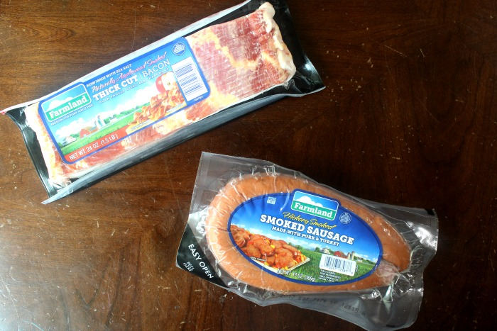 Farmland Bacon and Smoked Sausage Rope for Breakfast Grilled Cheese
