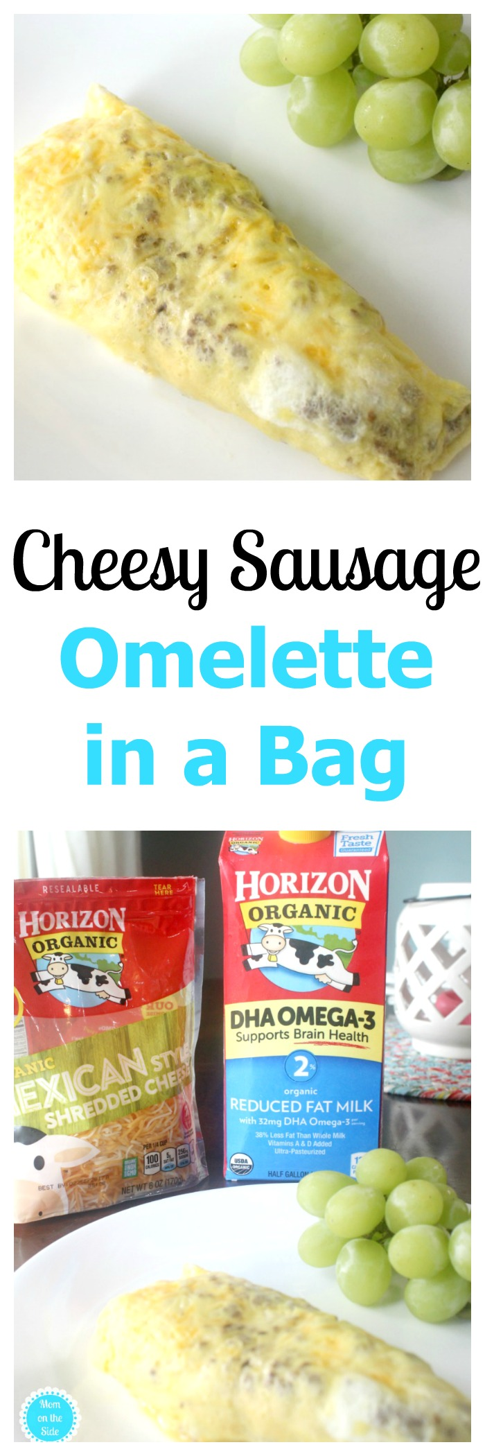 Cheesy Sausage Omelette in a Bag Recipes