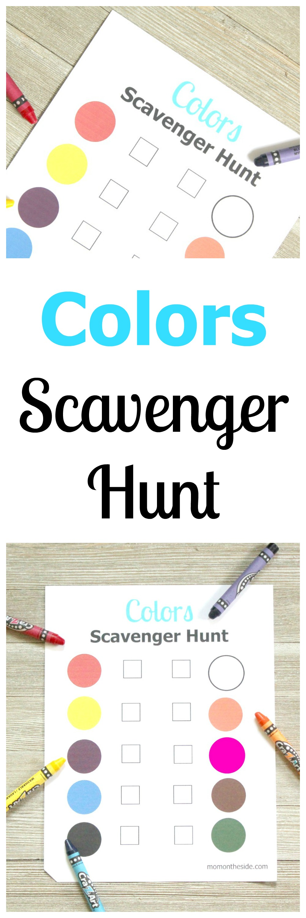 Printable Colors Scavenger Hunt for Kids and Parents