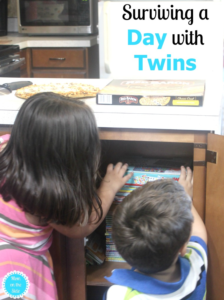 How this mom goes about surviving a day with twins
