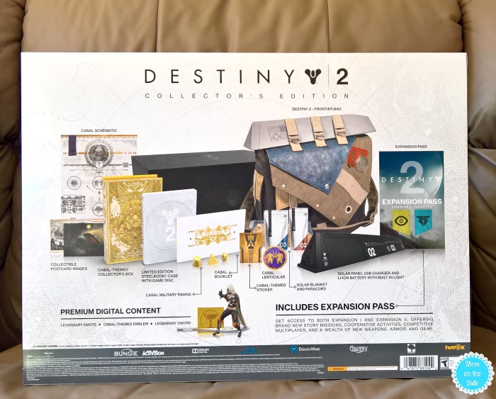 Contents of the Destiny 2 Collector's Edition Box