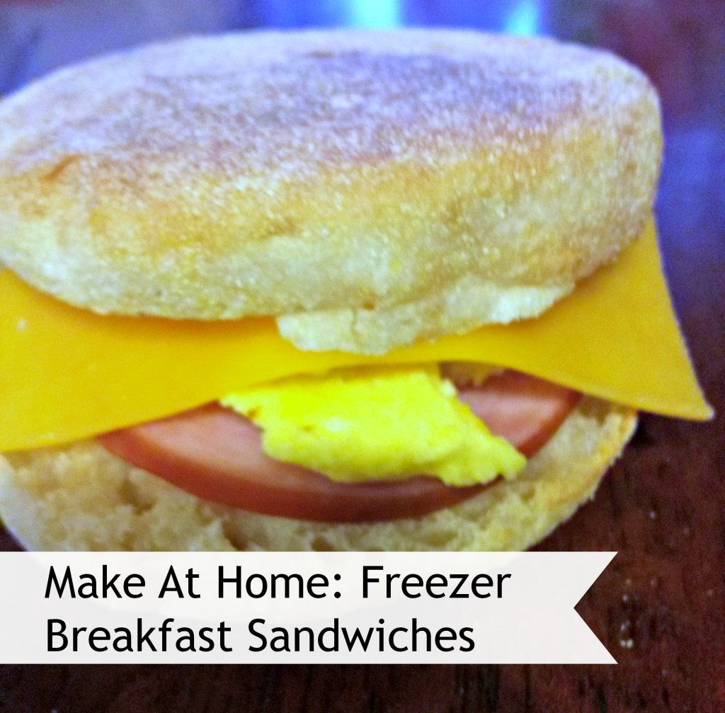 Make at Home Breakfast Sandwiches - Perfect Breakfast Freezer Meal for Back to School