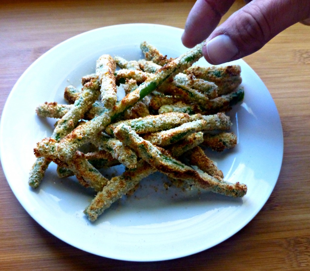 This easy and delicious Baked Green Bean Fries recipe is a must try side dish! Such a fun twist on vegetables.
