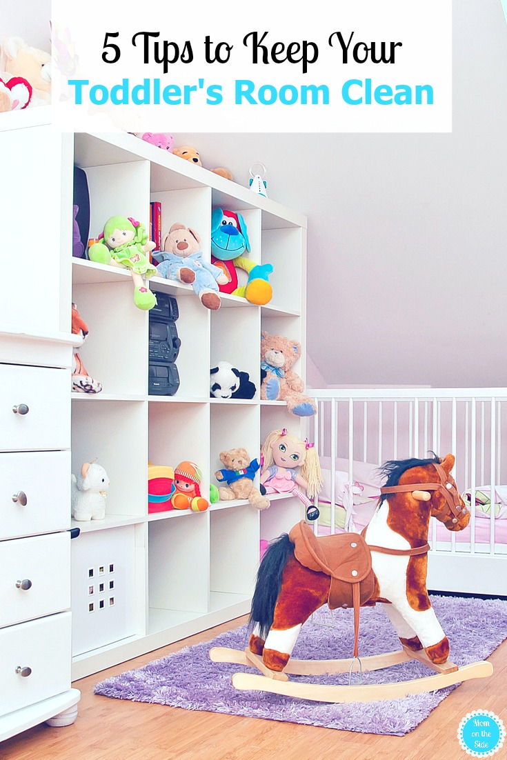 Our Twin Nursery Room rapidly turned into a Toddler Room. I'm sharing 5 Tips to Keep Your Toddler's Room Clean, as clean as a toddler's room can be.