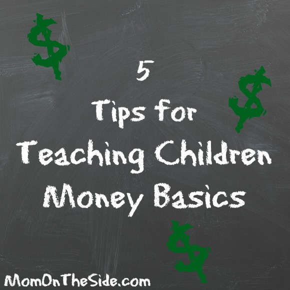 Check out these 5 Tips for Teaching Children Money Basics using everyday situations to spark conversations about money with our children.