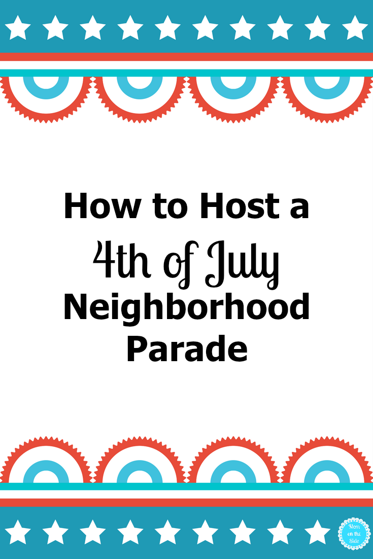 A few years ago, my parents got this crazy idea to have a 4th of July Neighborhood Parade. My dad had a flatbed trailer that was perfect for a