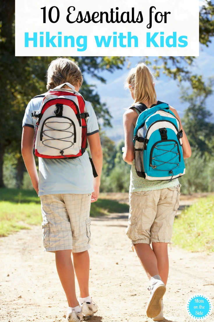 Make you next hiking adventure with kids the best ever, with these 10 Essentials for Hiking with Kids, on Mom on the Side!
